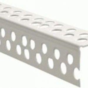 Угол ПВХ белый перфорированный 25 х 25(3м)