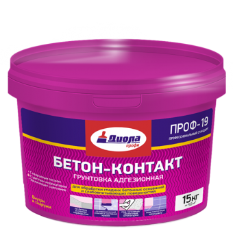 Грунт Бетон Контакт Диола ПРОФ СТ-19 15 кг