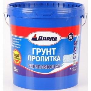 Грунт-пропитка укрепляющая Диола Д-67 , 10 кг