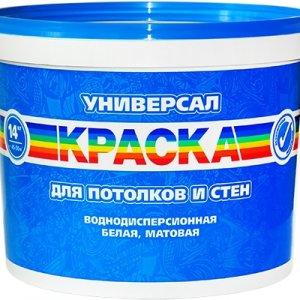 """Краска ВД Радуга """"Универсал"""" д/потолков и стен 14 кг"""