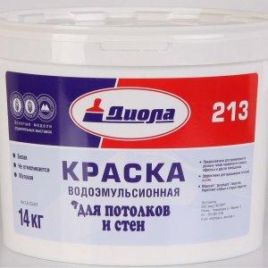 "Краска ВД ""Диола-213"" для стен и потолков, 14кг."