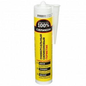 Герметик силиконовый универсальный белый, U РЕМОНТ НА 100% 260ml (24шт/кор)
