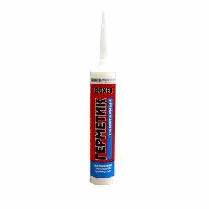 Герметик силиконовый санитарный бесцветный Boxer S 280ml (12шт/кор)