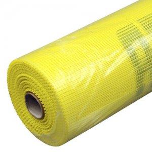 Сетка фасадная под штукатурку 5х5 мм 20 м 145 гр/м2 желтая