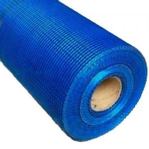 Сетка фасадная стеклотканевая 5х5 мм 50 м 160 гр/м2 усиленная/синяя