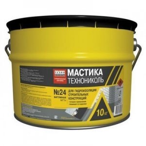 ТехноНИКОЛЬ Мастика гидроизоляционная №24, 10 кг