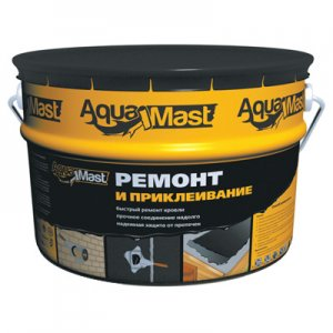 ТехноНИКОЛЬ Мастика для ремонта и приклеивания AquaMast ведро, 3 кг