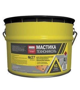 ТехноНИКОЛЬ Мастика приклеивающая для плит и пенополистирола №27 ведро, 22 кг