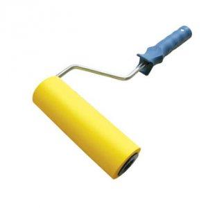 Валик д/прикатки обоев резиновый 180 мм , ручка 6 мм
