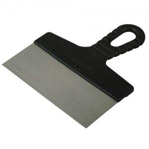 Шпатель  200 мм с черной ручкой  нерж.сталь