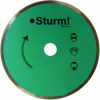 диск алмазный по керамике 230 мм сплошной, мокрый рез