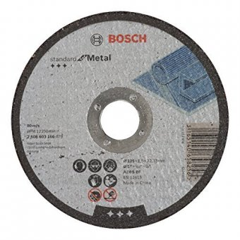 Круг отрезной BOSCH 125x1,0 мм по металлу 2608603396