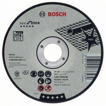 Круг отрезной BOSCH 125x1,6 мм по нержавейке 2608603172