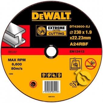 Круг отрезной DEWALT Extreme Cutting 230х1,9 по металлу DT43600